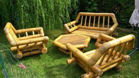 Salon De Jardin En Bambou by Table Salon Bambou Clasf