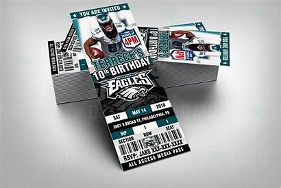 Eagles Philadelphia Party Football Sports Invitations Sportsinvites