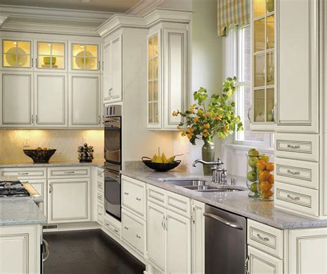 Off White Cabinets with Glaze   Decora Cabinetry