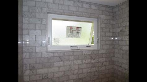 marble subway tile tub shower area   window youtube