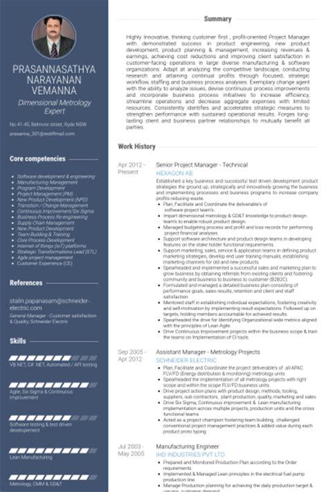 Senior Technical Program Manager Resume by Senior Projektmanager Cv Beispiel Visualcv Lebenslauf Muster Datenbank