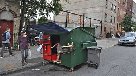 tiny house   big dumpster  homeless homes project