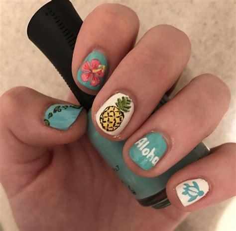 hawaii nail design  nailsss   hawaii nails