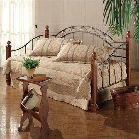 hillsdale camelot wood  metal daybed  cherry