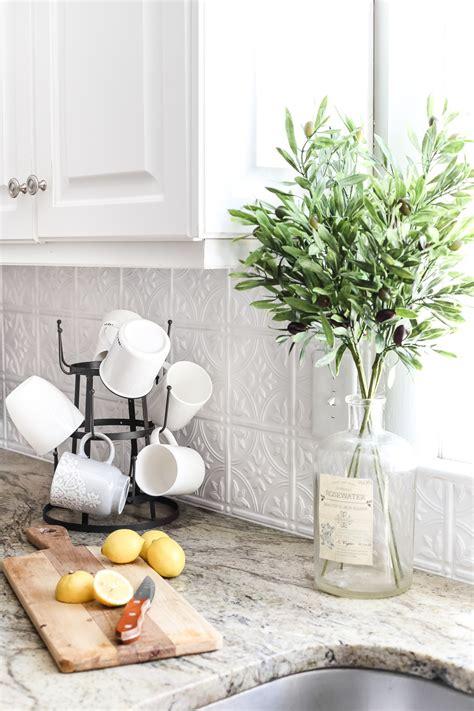 metal backsplash kitchen diy pressed tin kitchen backsplash bless er house 4084