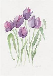 Purple tulips. Flowers. Drawings. Pictures. Drawings ideas ...