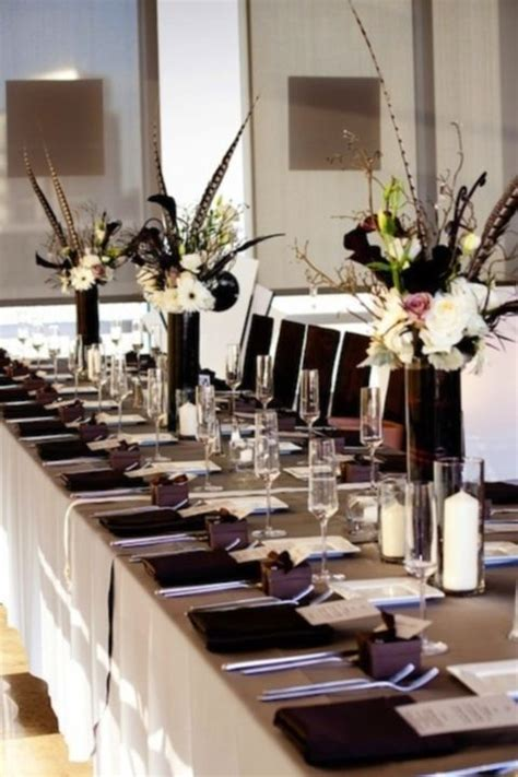 black and white table arrangements 17 best images about ordination reception ideas on