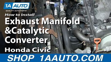 install replace exhaust manifold  catalytic