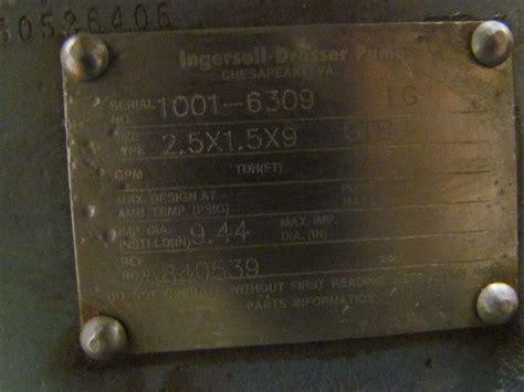 ingersoll dresser 2 5x1 5x9 gtb centrifugal pump cast iron