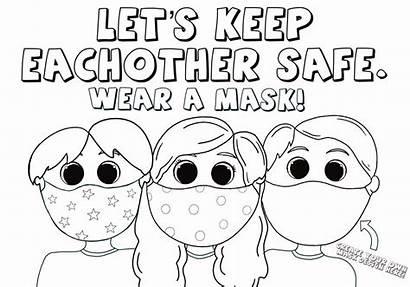 Coloring Masks Wearing Face Sheets Hero Mask