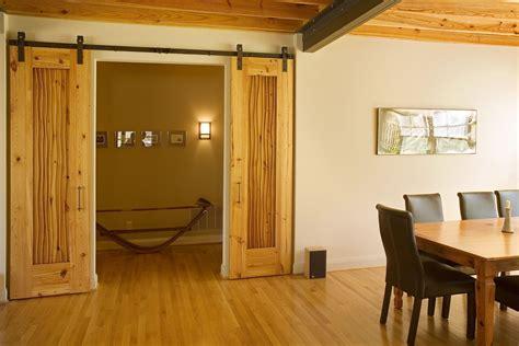made custom pine sliding doors by eidolon
