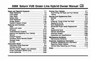2008 Saturn Vue Hybrid Owners Manual