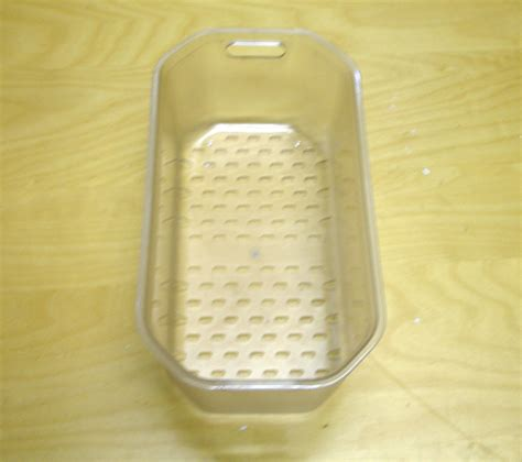 Kitchen Sink Drainer Basket Clear Plastic Ebay