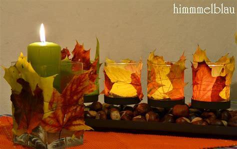 Herbstdeko Für Das Fenster Basteln by Madelaine Himmmelblau Oktober 2012