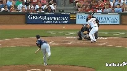 Layne Hit Baseball Balls Bat Head Umpire