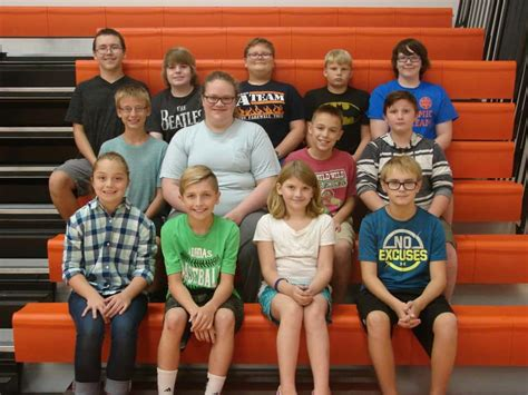 south marshall middle school selects academic team marshall county