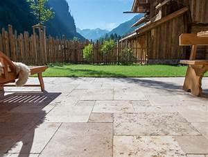 Travertin platten natursteinhandel jonastone for Travertin terrasse