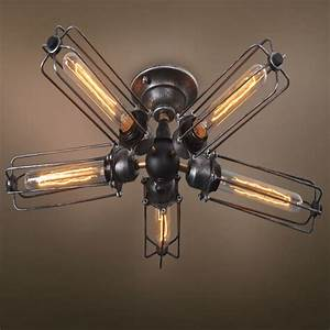 Ceiling awesome fan with edison lights stunning