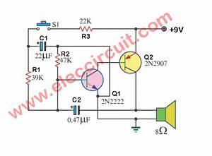 4 Electronic Siren Circuits Using Transistors
