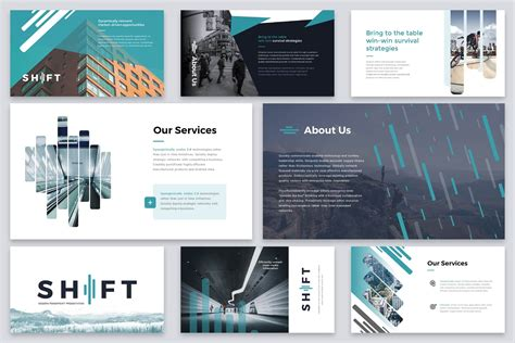 shift modern powerpoint template reshapely