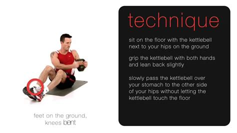 kettlebell russian twist seated