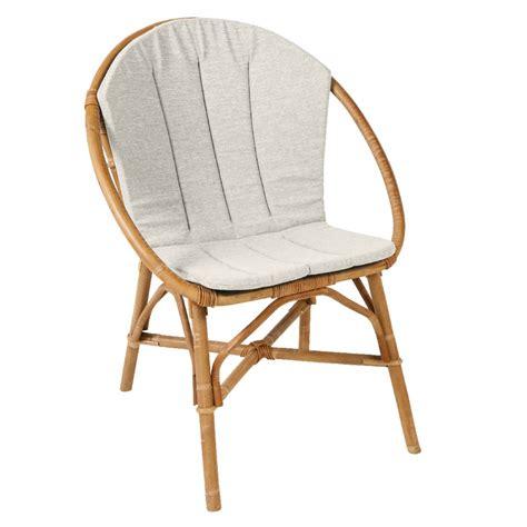 siege en osier coussin pour fauteuil bruno fauteuil rotin kok