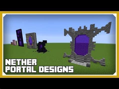 minecraft   build nether portal designs tutorial