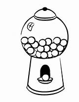 Gumball Machine Coloring Gum Bubble Pages Template Drawing Printable Draw Easy Getcolorings Getdrawings Empty Drawings Clipartmag Paintingvalley Sketch Colorings sketch template
