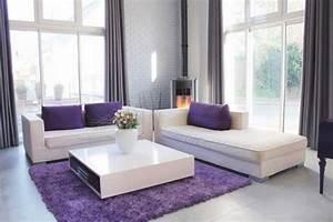 Wohnzimmer In Grau Weiß : wohnzimmer in grau weis lila ~ Sanjose-hotels-ca.com Haus und Dekorationen