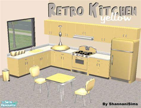 shannanigans retro kitchen set yellow