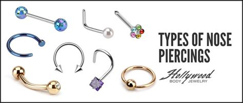 The different types of Nose piercings