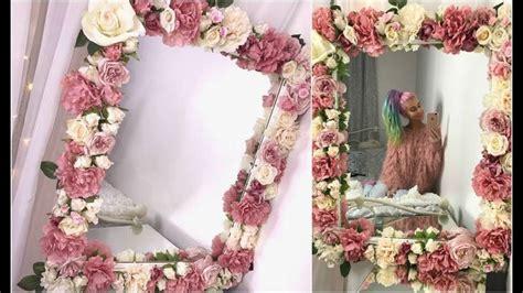 diy floral mirror tutorial youtube diy floral mirror