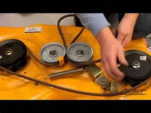How To Change The Deck Belt On A Cub Cadet Riding Lawn