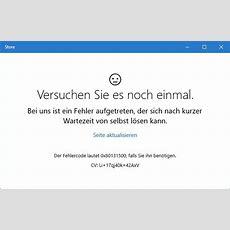 Windows 10 Store Ausgefallenliefert Error 0x80131500