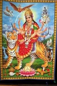 Jai Shree Vihat Maa Mata Gujarati Goddess Poster 9x11 047