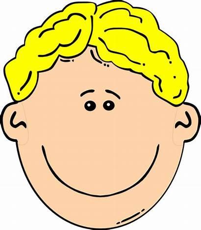 Boy Blonde Clip Clipart Clker Head