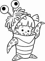 Coloring Pages Inc Monster Fun sketch template