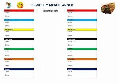Weekly Bi Planner Template Meal Allbusinesstemplates