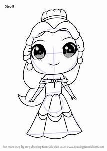 Learn How To Draw Chibi Belle From Beauty And The Beast