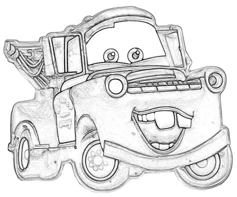 Lightning Mcqueen And Mater Coloring Pages To Print Mater Coloring Pages Lightning Mcqueen And Mater Coloring