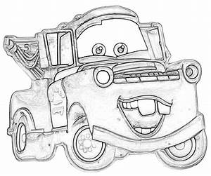 Mater - Free Colouring Pages