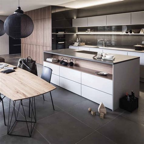 cuisine en et blanc tendance une cuisine bois et laque décoration
