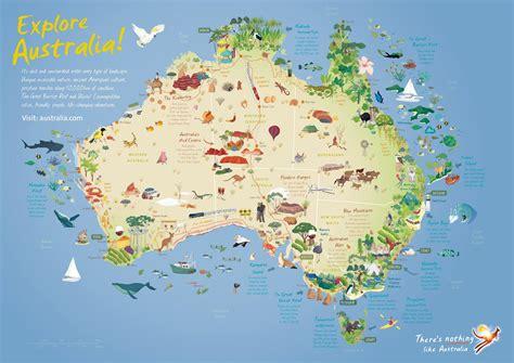 australia tourism bureau australia travel guide map