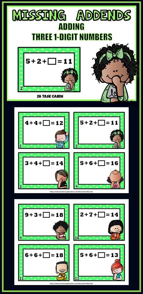 99 Best Addition Multiple Addends Images On Pinterest  4th Grade Math, Basic Math And