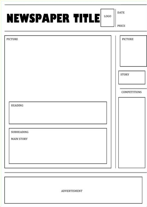 basic newspaper template 4 news paper template teknoswitch