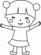 Coloring Japan Child Wecoloringpage sketch template