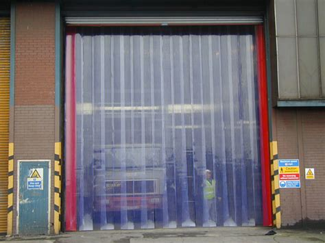 closed doors pvc curtains supply fitting