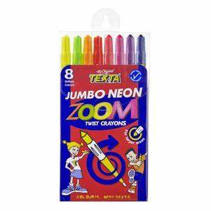 Texta Jumbo Neon Zoom Twistable Crayons 8 Pack