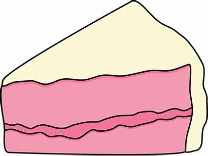 Slice Cake Clipart Clip Pink Frosting Piece