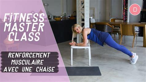 musculation avec une chaise exercices de musculation avec une chaise fitness master